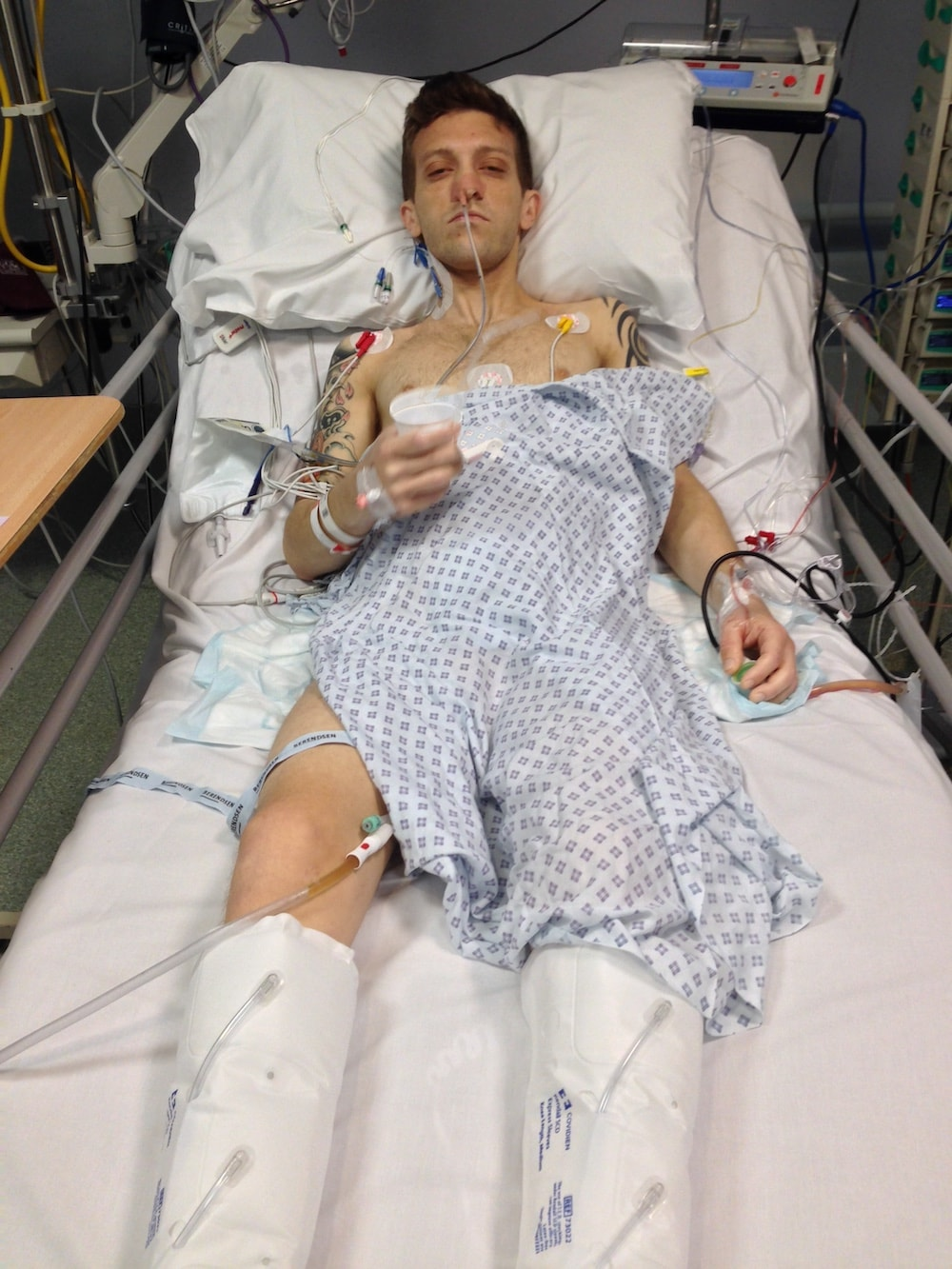 Rob in hospital