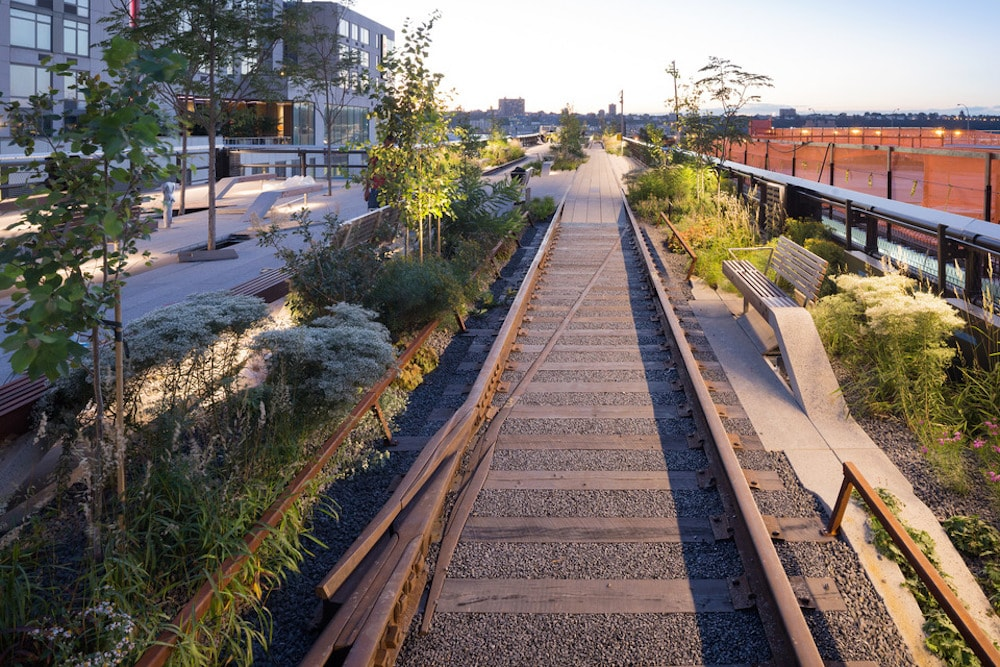 This is photo of the High Line Park in New York