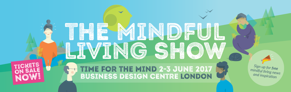 This is an image of the Mindful Living Show's web banner detailing the event takes place from the 2-3 June 2017 at the Business Design Centre in London.