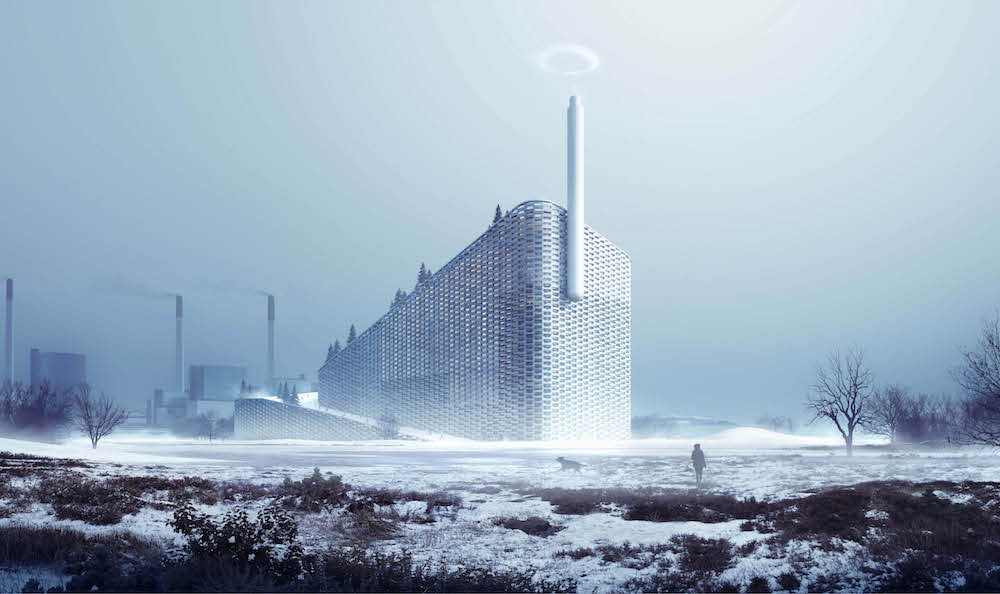 This is photo of the art concept for the Amager Resource Centre in Copenhagen
