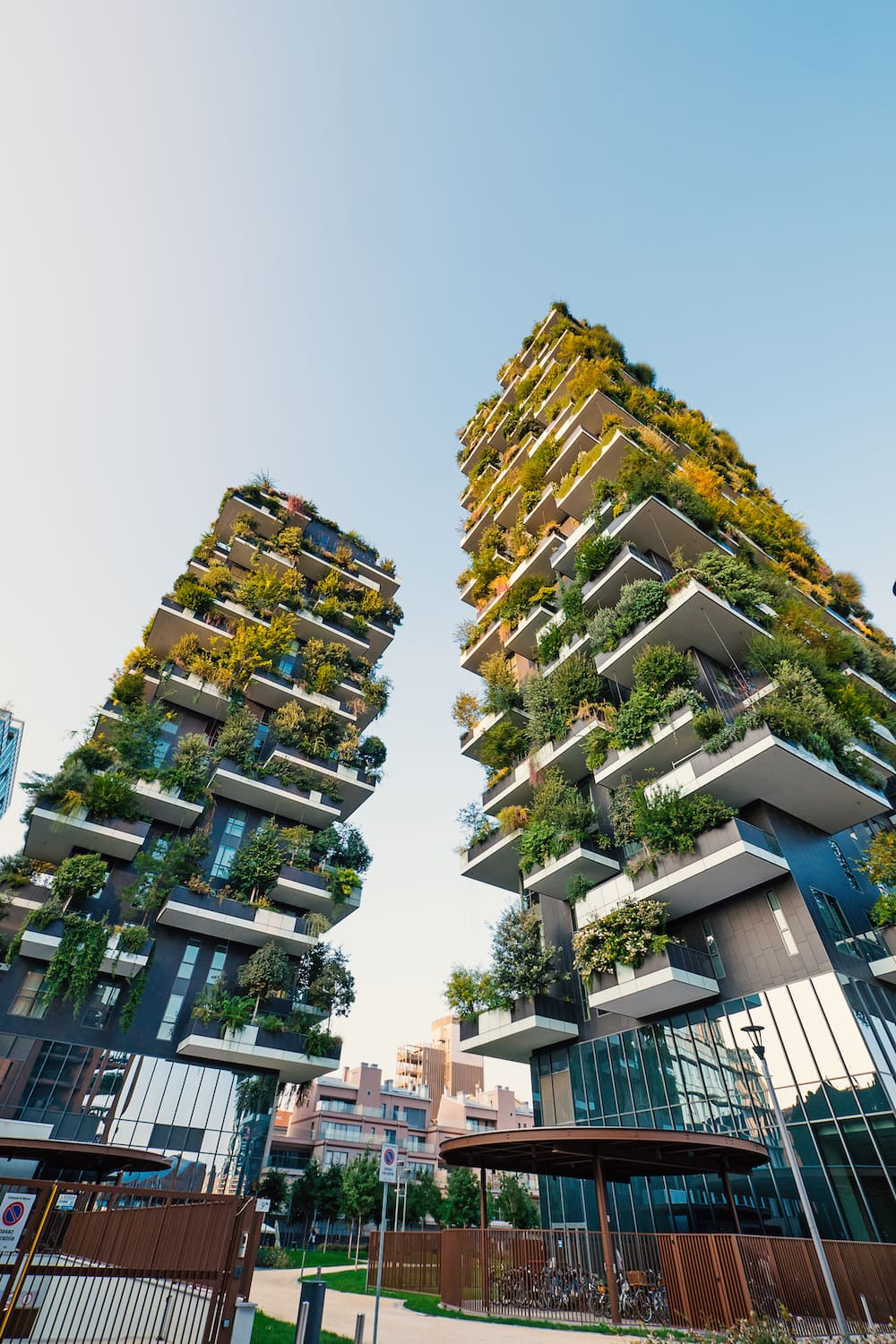 This is photo of the Bosco Verticale buildings in Milan