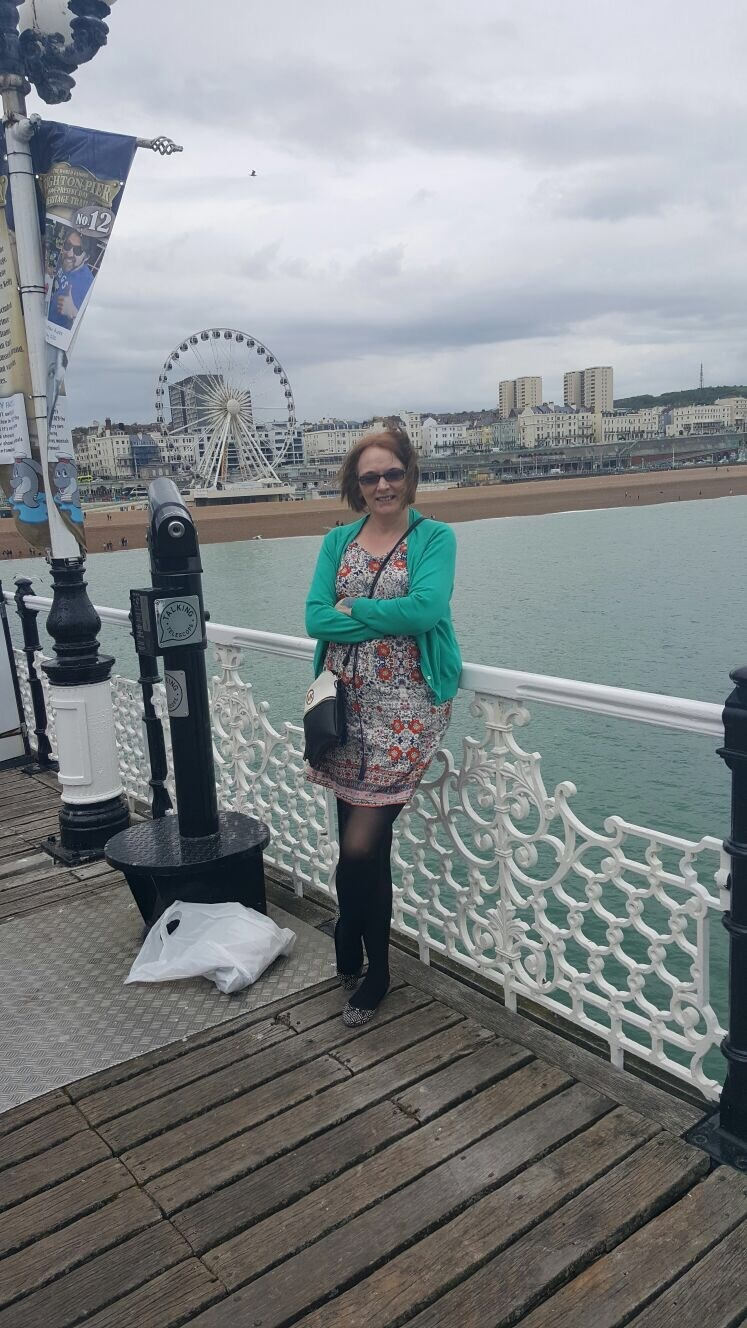 This is a photo of Ros at Brighton Pier