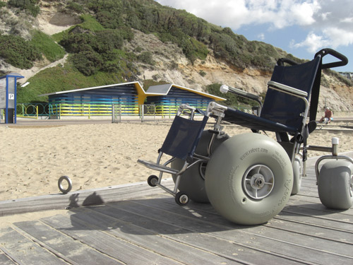 disabled friendly beach huts and wheelchair