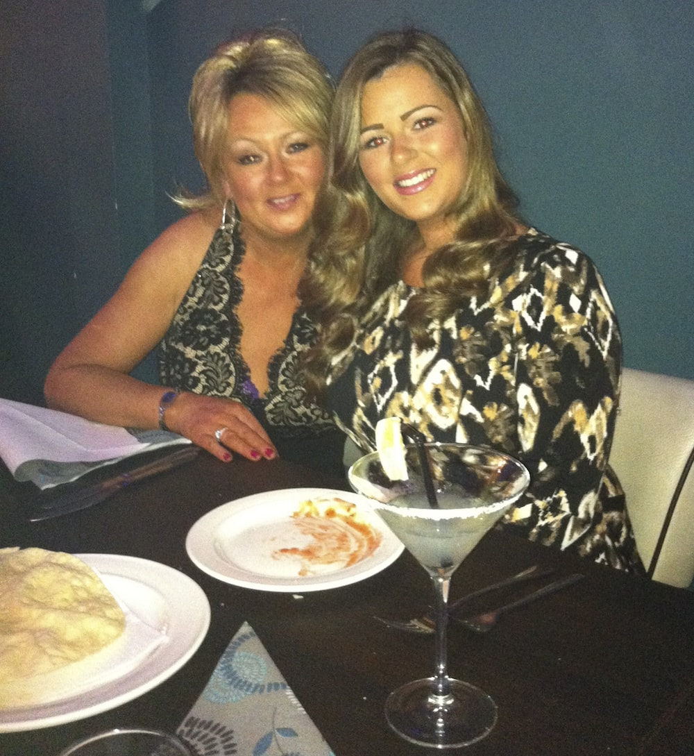 This is a photo of Lacey and her mum
