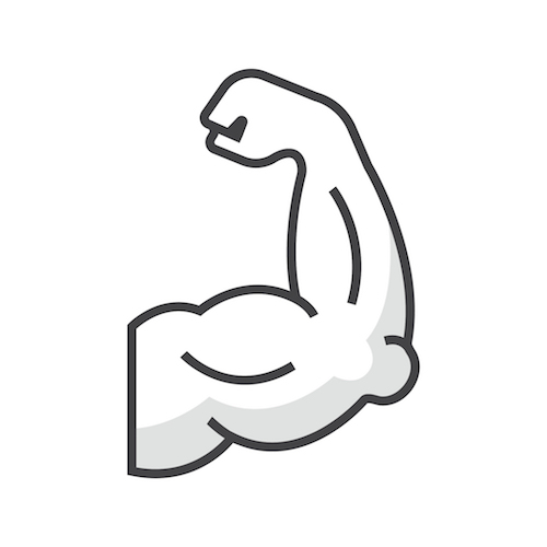 This is a drawing of a bicep