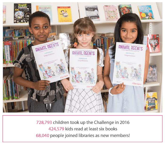 Summer Reading Challenge 2017 Children with Certificates