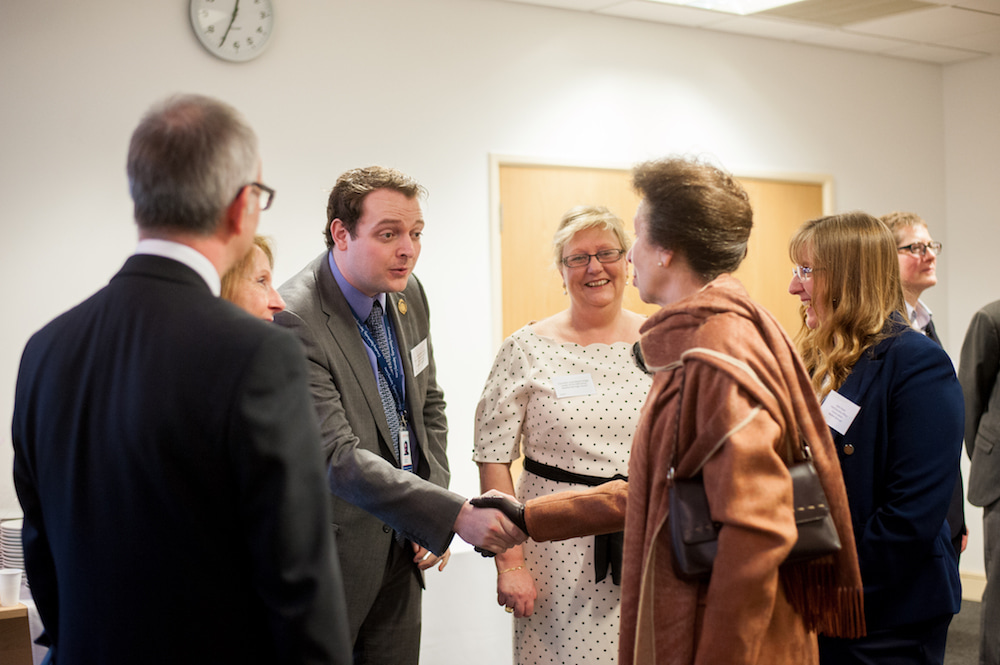 Andrew Gordon meeting the Princess Royal