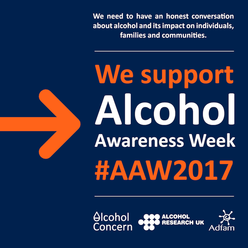 We support Alcohol Awareness Week
