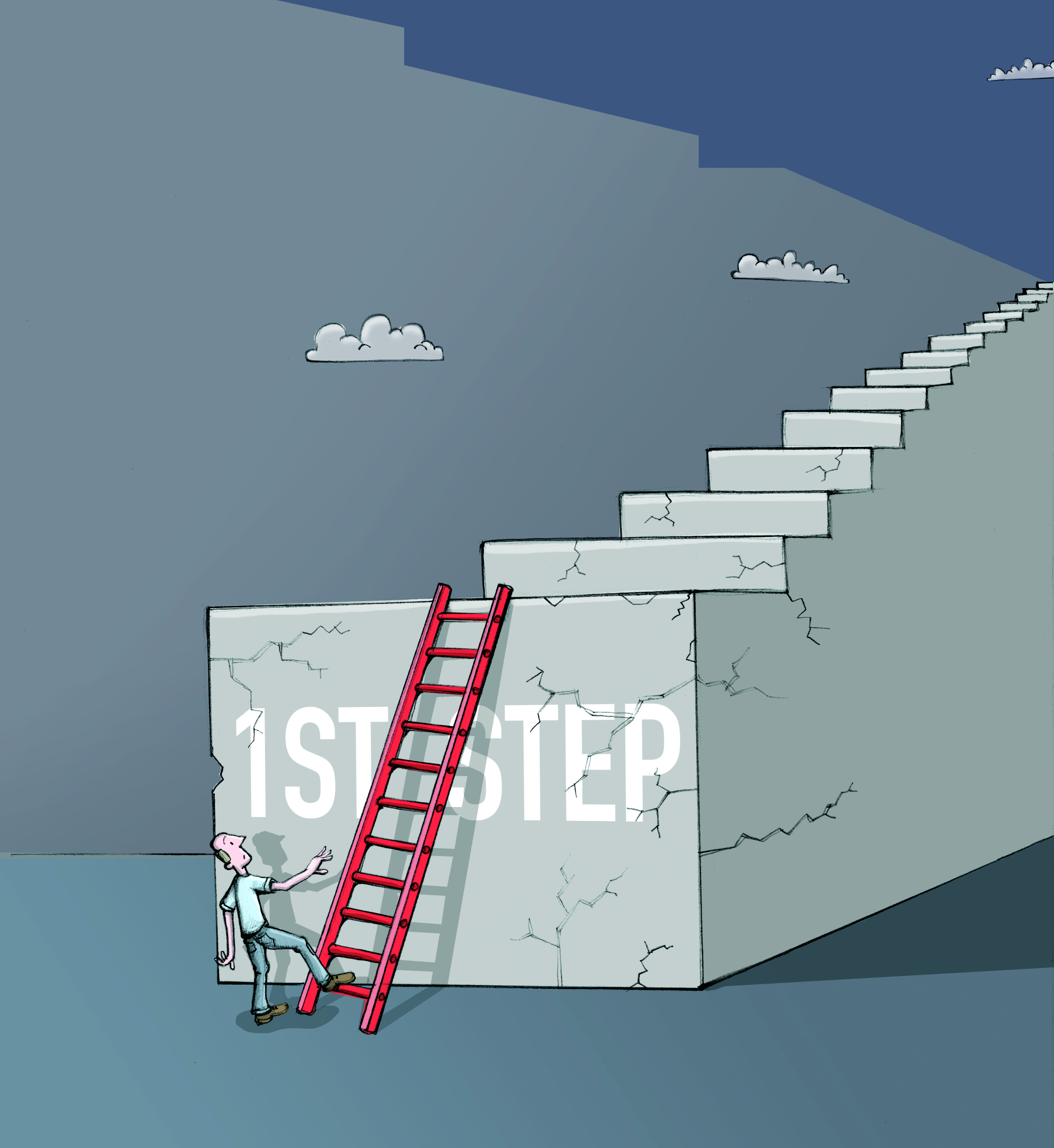 Illustration: the first step