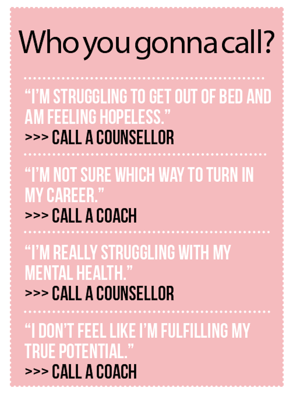 Counselling vs life coach