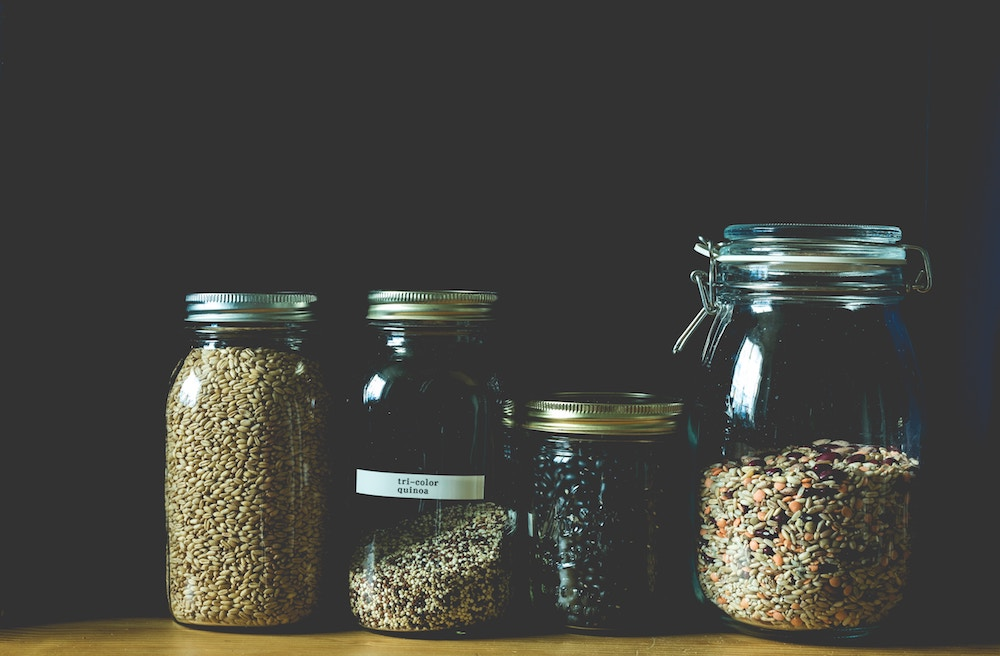pulses in glass jars