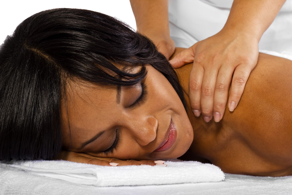 Woman getting deep tissue massage