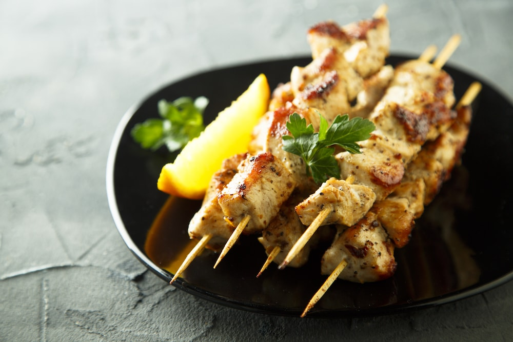 Spicy Chicken and Mango Skewers