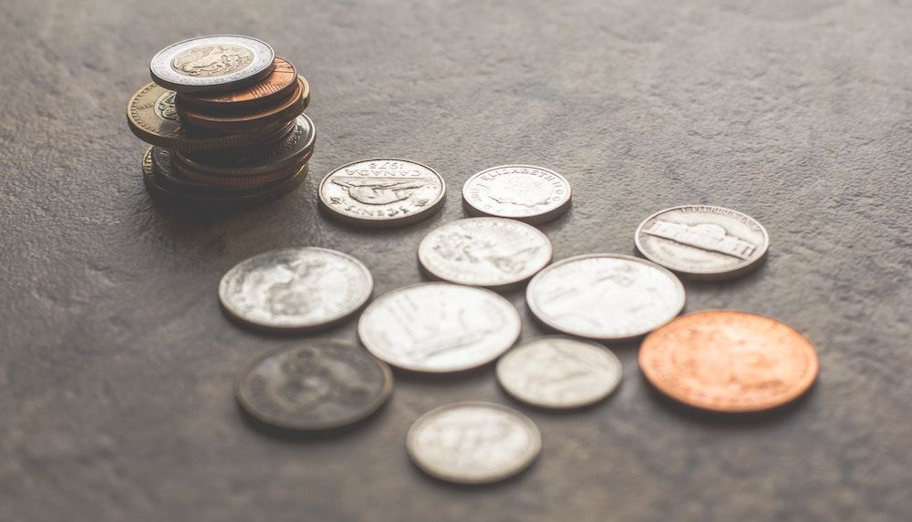 a selection of coins