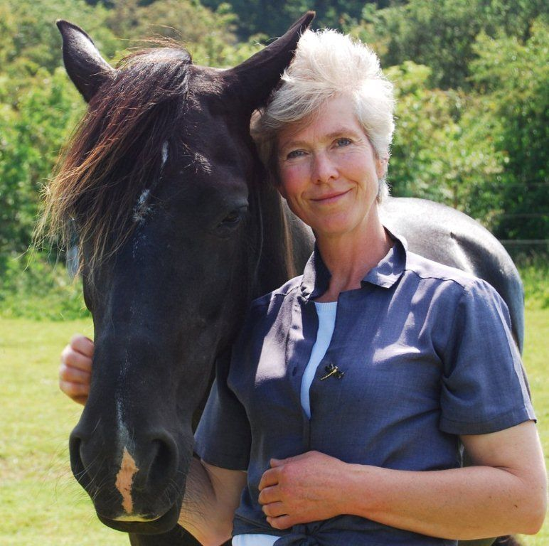 Joanna with her horse, Bronwen