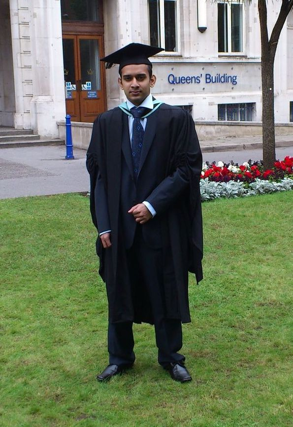 Vidura at his graduation