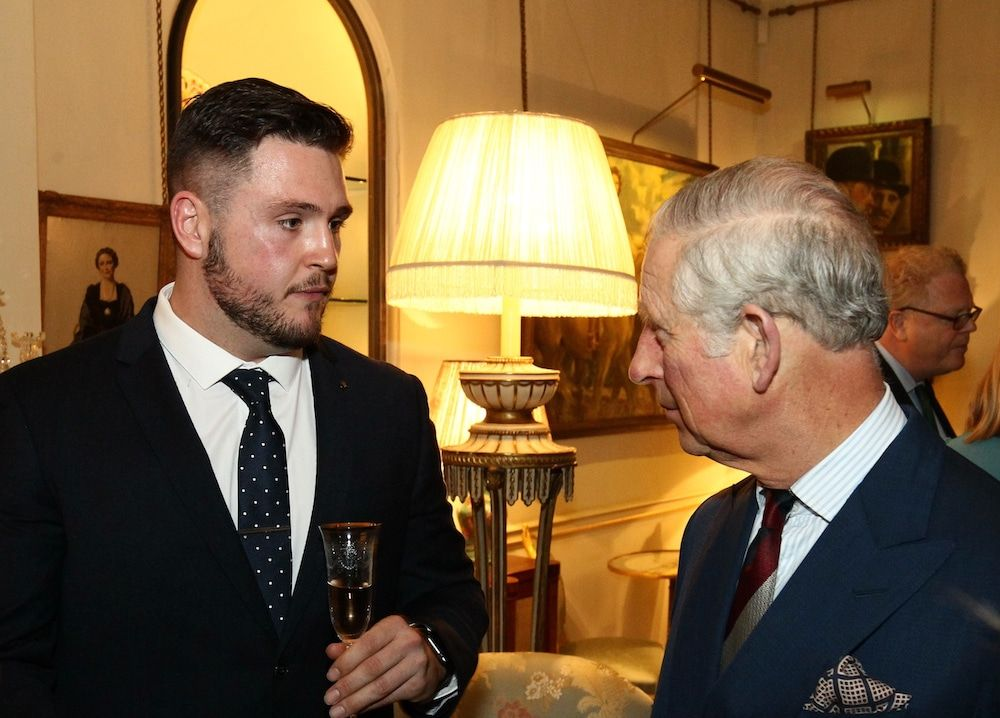 Luke Ambler talking to Prince Charles about his campaign
