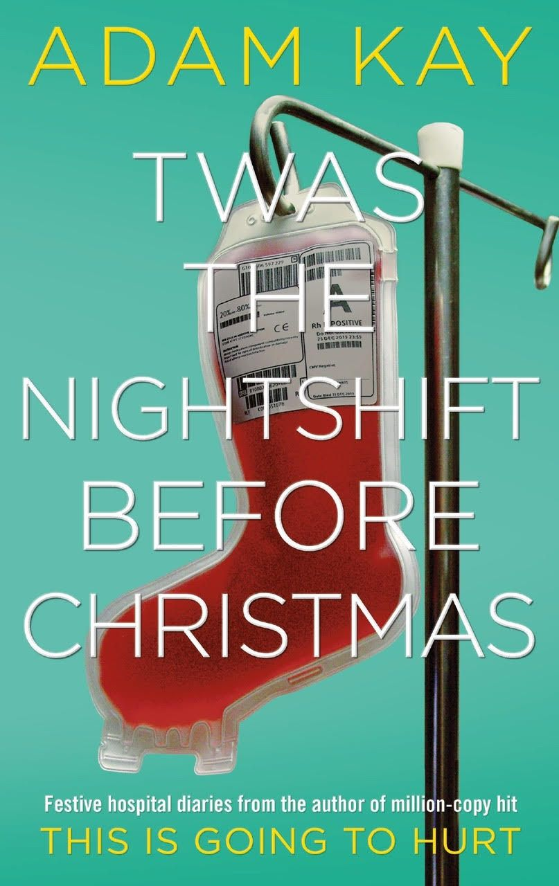 Adam's book 'Twas the nightshift before Christmas' book cover