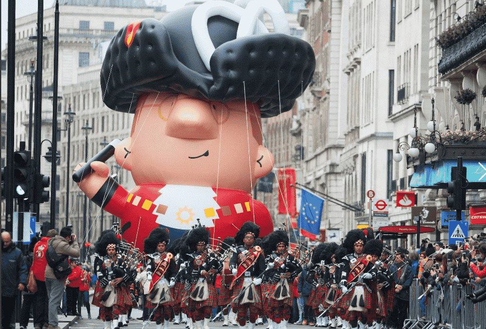 Giant Balloon at London New Year's Day Parade