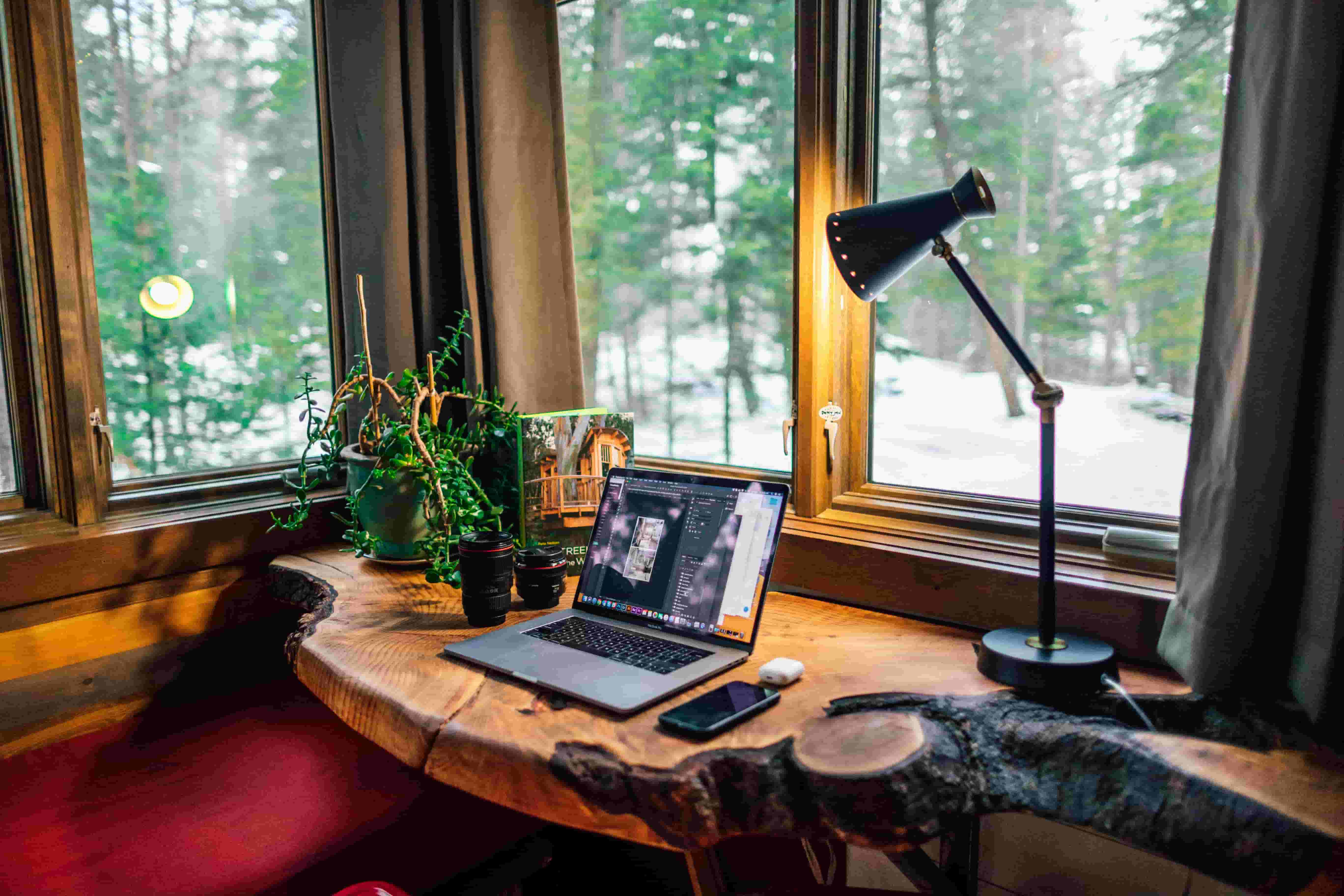 A home-office space