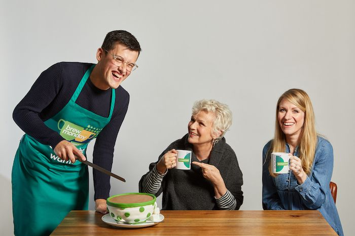MICHAEL CHAKRAVERTY, DAME JULIE WALTERS AND RACHEL PARRIS SHOW THEIR SUPPORT FOR BREW MONDAY