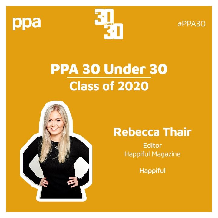 Rebecca Thair, Happiful Editor, joins the PPA's 30 Under 30 line up